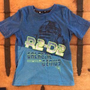 Star Wars Boys Size Medium Blue Graphic Tee Shirt